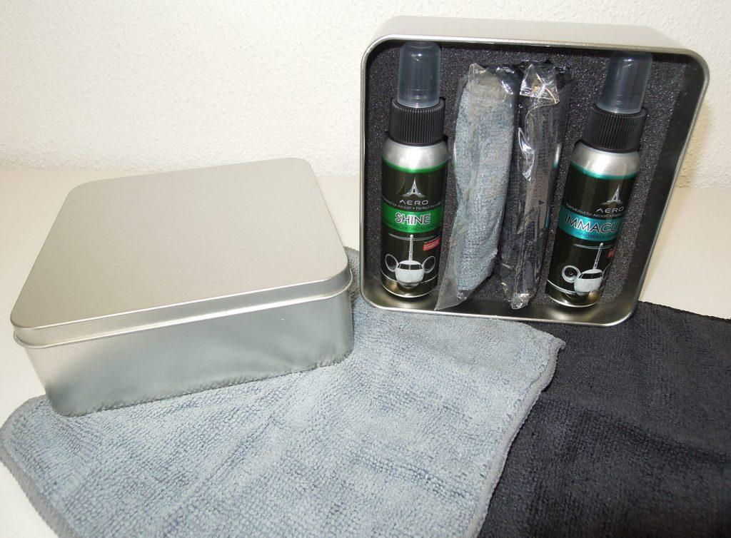 AERO Mini Travel Kit ALU   (2 x 74 ml + 2 x Mikrofasertücher)